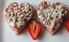 Strawberry Rice Krispy hearts
