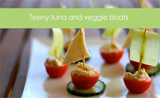 Tuna and veggie boats