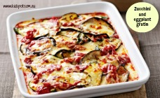 Zucchini and eggplant gratin