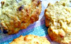 Banana choc-chip cookies