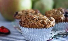 Blackberry and muesli breakfast muffins