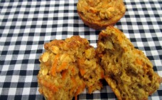 Carrot and oat muffins