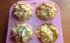 Cheesy vegetable muffins