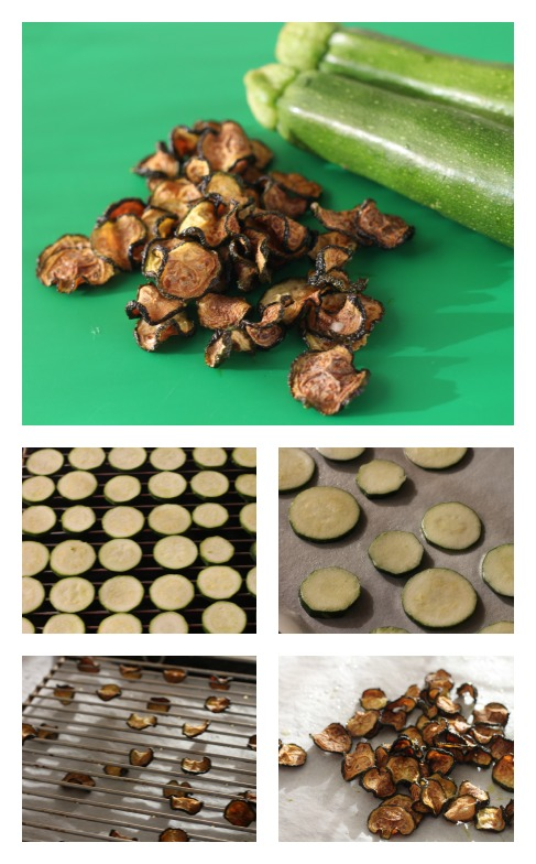 Dried zucchini chips