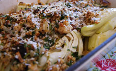 Fennel and thyme gratin