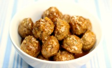 Healthy Glazed Meatballs