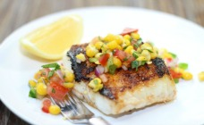 Mexican fish with corn salsa