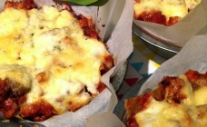 Mini chicken lasagnes