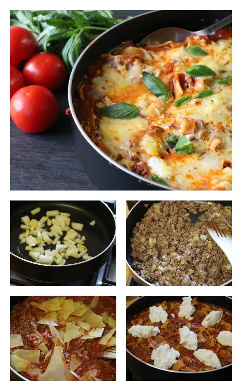 One pan lasagne