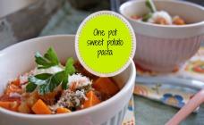One pot sweet potato pasta