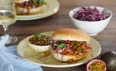 Pulled pork sliders with passionfruit relish