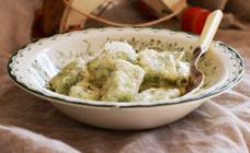 Spinach, lemon and ricotta gnocchi