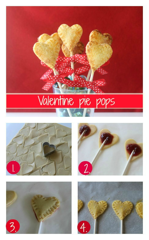 Valentine pie pops