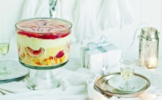 White Nectarine and Rosewater Trifle Recipe