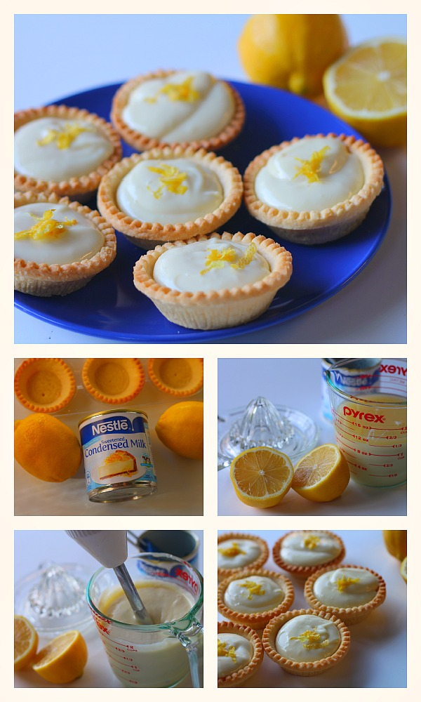 3 ingredient lemon tarts