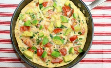Healthy bacon and vegetable frittata