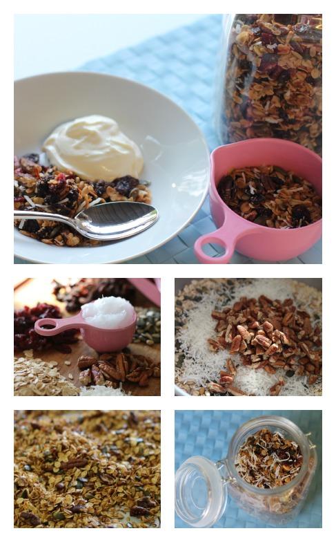 Coocnut oil granola