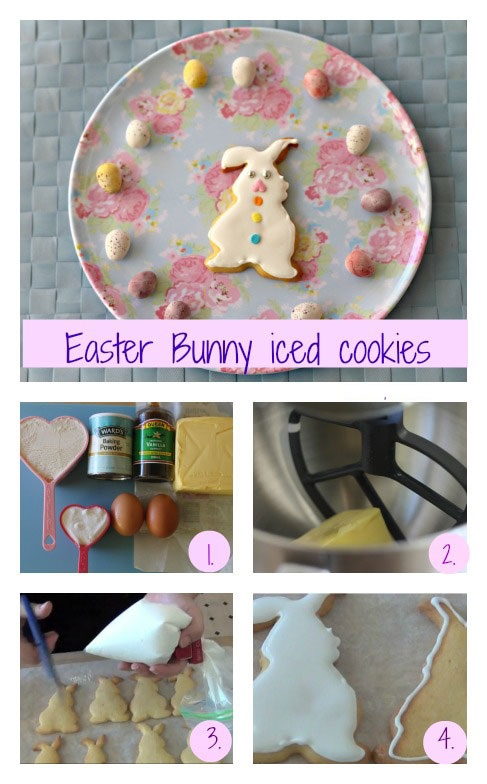 Easter Bunny iced cookies