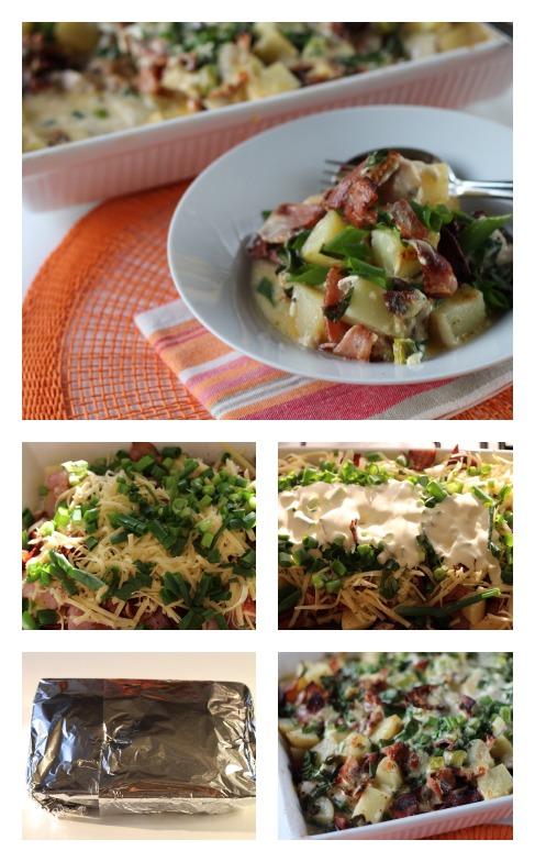 Easy chicken adn baked potato casserole