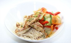Healthy chicken noodle salad