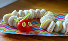 Hungry caterpillar sandwiches
