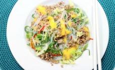 Pork and mango noodle salad