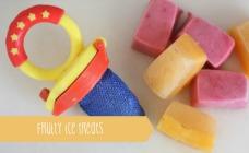 Raspberry And Banana Smoothie Ice Treats Recipe