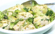 Spring pesto chicken
