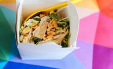 Vietnamese chicken salad in a box