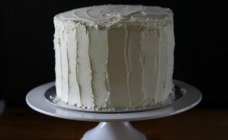 White birthday cake
