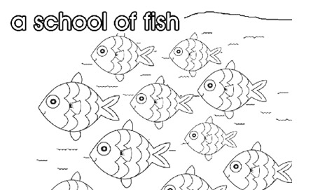 find more collective noun colouring pages - Colouring Pages Of School
