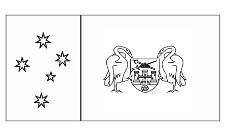 ACT Flag  Flag History  Flag Colours  Colouring Pages
