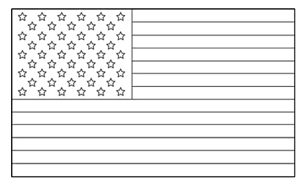 United States Flag Template Free Printable Colouring Pages