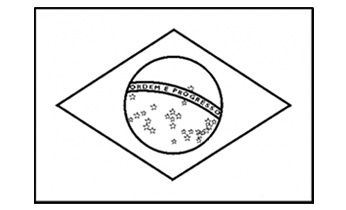 Worksheet. Brazilian Flag  Free Printable  Colouring Pages