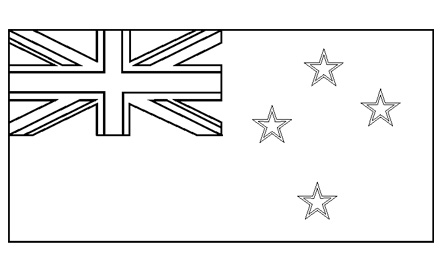 Flags Of The World  Colouring Pages  New Zealand