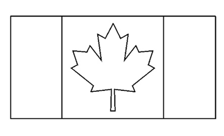 canadian flag printable coloring pages | Canadian Flag - Free Printable - Colouring Pages