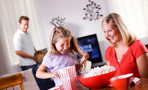 Have a fun family movie night at home