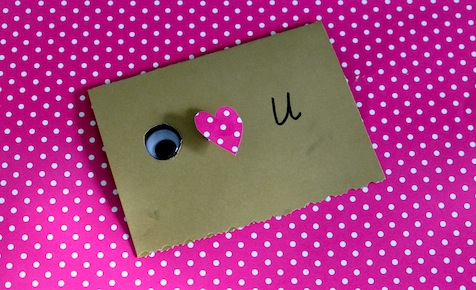 Make an Eye heart U card