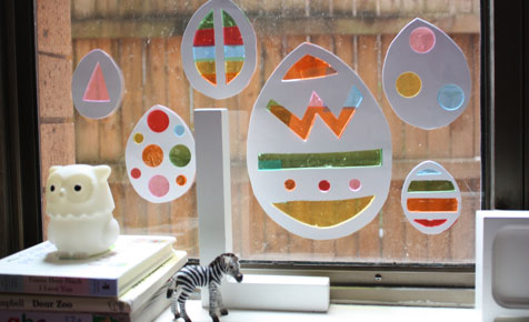 Easter window decorations