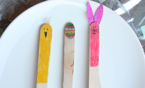 Easter cutlery