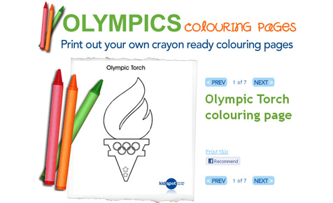 Olympics colouring in