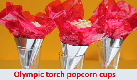 Olympic popcorn cups