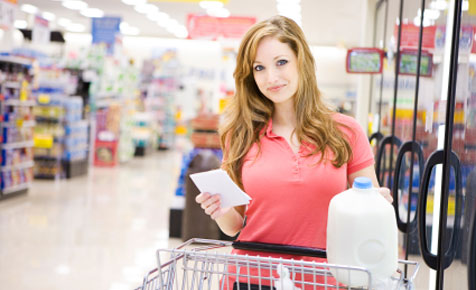 Healthy food shopping for weight loss