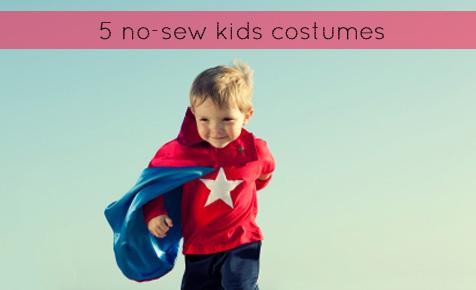 5 no-sew kids costume