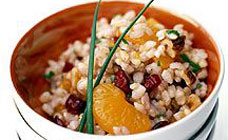 Raisin and walnut brown rice salad