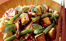 Thai roasted tofu with ginger, garlic and chilli vegetables recipe