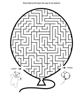 Bear And Balloon Maze