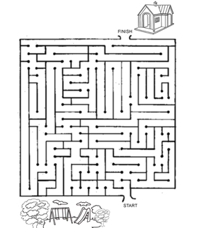 Find The Way Home Maze