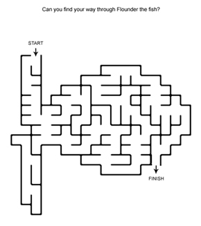 Fish Shaped Maze