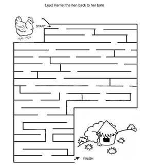 Hen And Hut Maze
